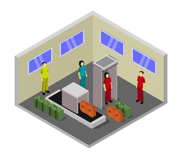 Izometryczna odprawa w pokoju