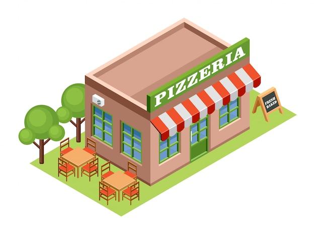 Izometryczna pizzeria.