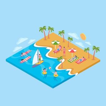 Izometryczna plaża
