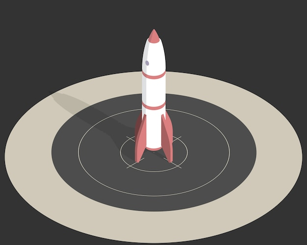 Izometryczna rakieta kosmiczna