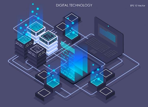 Izometryczna rzeczywistość wirtualna i rozwój technologii cyfrowych, izometryczne centrum danych, przetwarzanie i przechowywanie informacji wektorowych