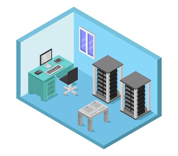 Izometryczna serwerownia