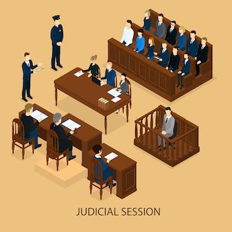 Izometryczna sesja sądowa