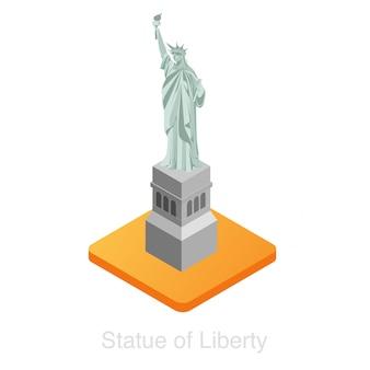 Izometryczna statua wolności.