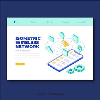 Izometryczna strona docelowa sieci bezprzewodowej