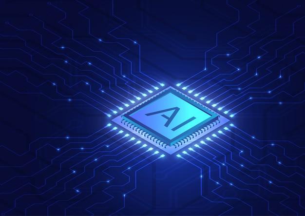 Izometryczna sztuczna inteligencja, analiza ai z chipem procesora