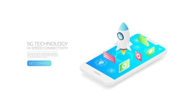 Izometryczna szybka technologia 5g