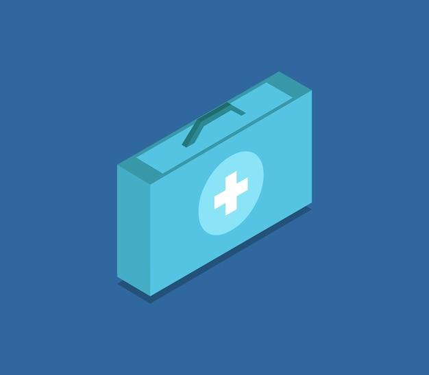Izometryczna walizka medyczna
