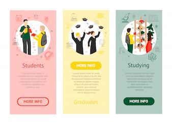 Izometryczne banery pionowe Uniwersytetu Uniwersyteckiego