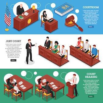 Izometryczne banery poziome prawa