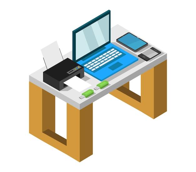 Izometryczne biurko