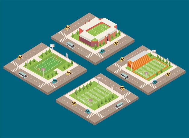 Izometryczne cztery stadiony
