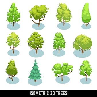 Izometryczne drzewa 3d