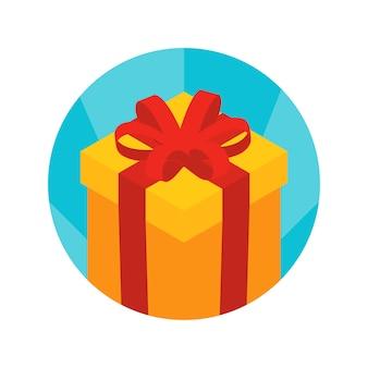 Izometryczne ikona pudełko