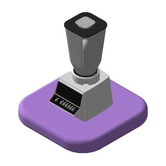 Izometryczne ikony 3d blender. mikser piktogramów. ilustracja na białym tle wektor.