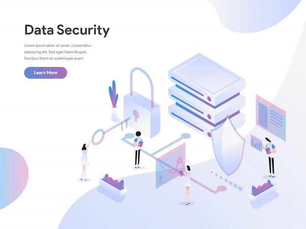 Izometryczne ilustracja koncepcja bezpieczeństwa danych