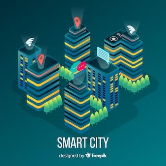 Izometryczne inteligentne miasto