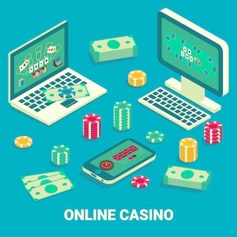 Izometryczne kasyno online płaskie