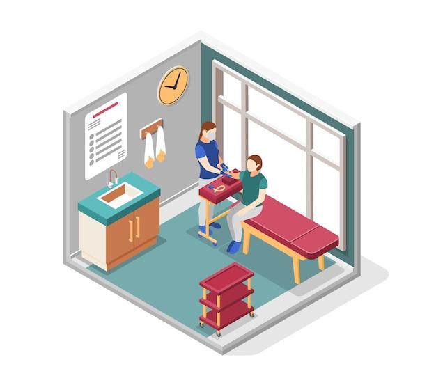 Izometryczne Koncepcja światowego Dnia Raka Z Ilustracjami Symboli Leczenia Chorób Premium Wektorów