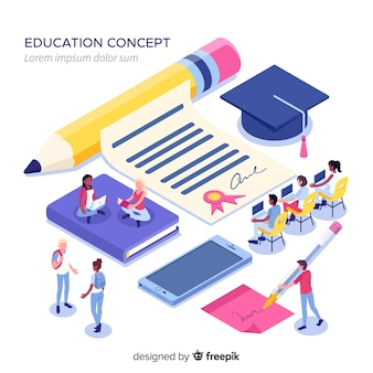 Izometryczne koncepcja uniwersytetu z elementami edukacji