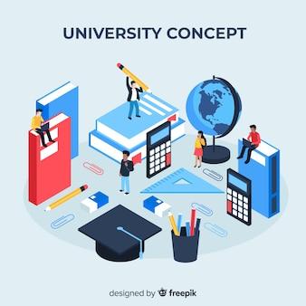 Izometryczne koncepcja uniwersytetu z elementami szkoły