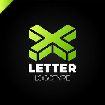 Izometryczne litery x logo ikona elementy szablonu projektu