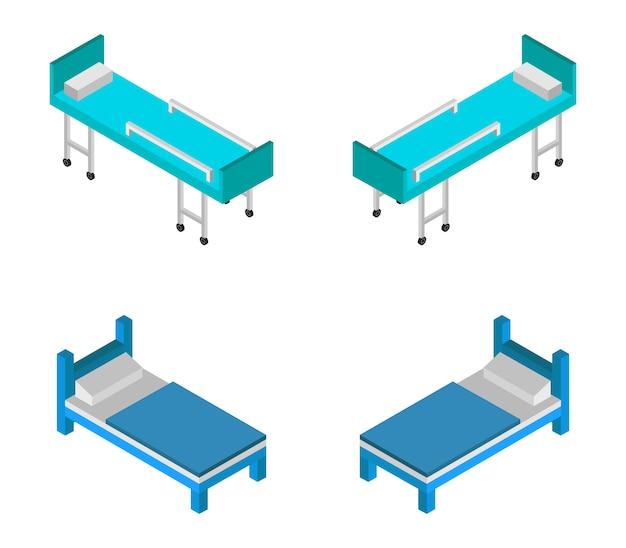 Izometryczne łóżko szpitalne