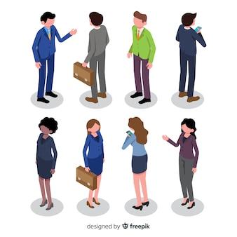 Izometryczne ludzi biznesu biuro ilustracja