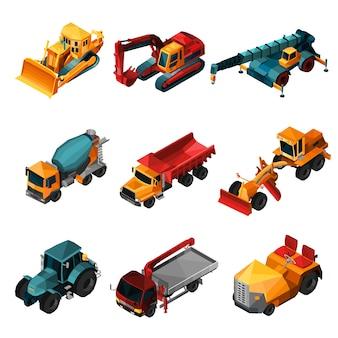 Izometryczne maszyny budowlane