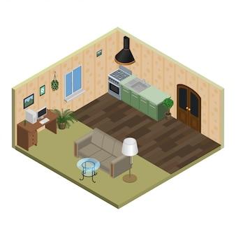 Izometryczne mieszkanie