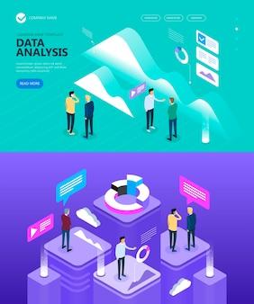 Izometryczne obrazy na temat ludzie i biznesmeni robią biznes, marketing i finanse wektor izometryczny koncepcja, ilustracja wektorowa