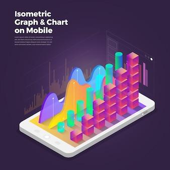 Izometryczne projektowanie koncepcji narzędzi mobilnych aplikacji analitycznych.