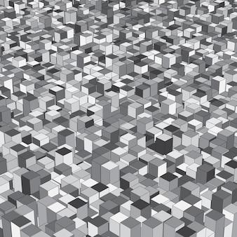 Izometryczne tło abstrock z wytłaczanymi kostkami