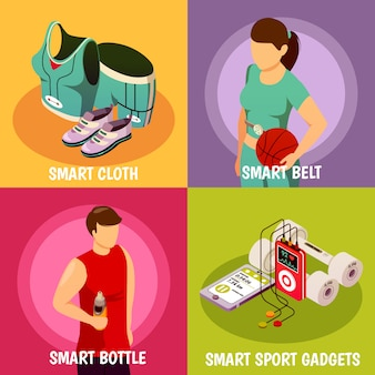 Izometryczne urządzenia sportowe do noszenia