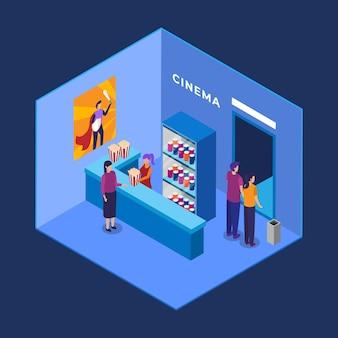 Izometryczne wnętrze kina