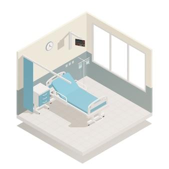 Izometryczne wyposażenie oddziału szpitalnego