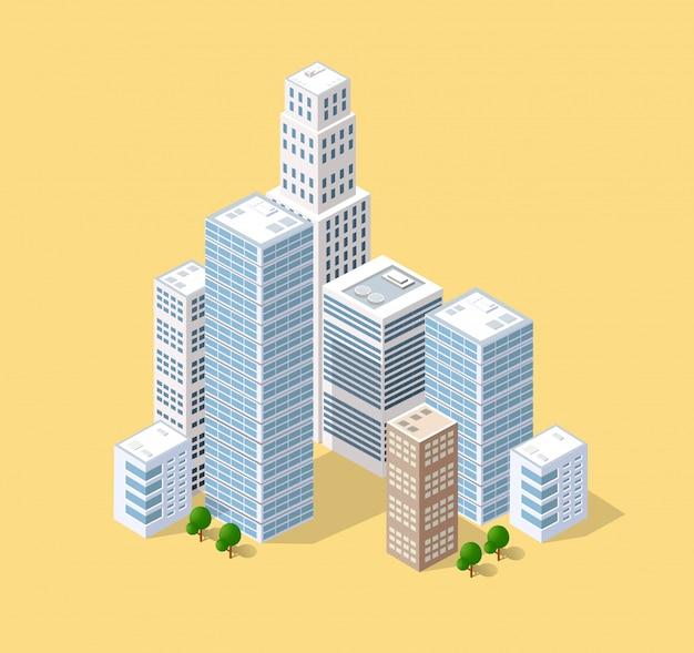 Izometryczny 3d miasta