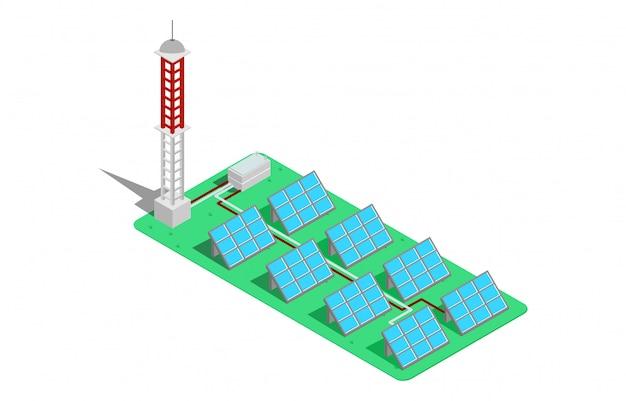 Izometryczny 3d wektor ilustracja wieża