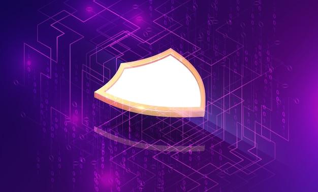 Izometryczny biznes bezpieczeństwa elektronicznego