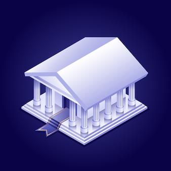 Izometryczny budynek banku