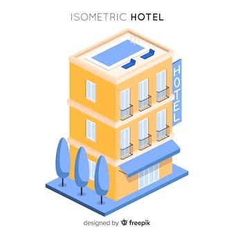 Izometryczny budynek hotelu