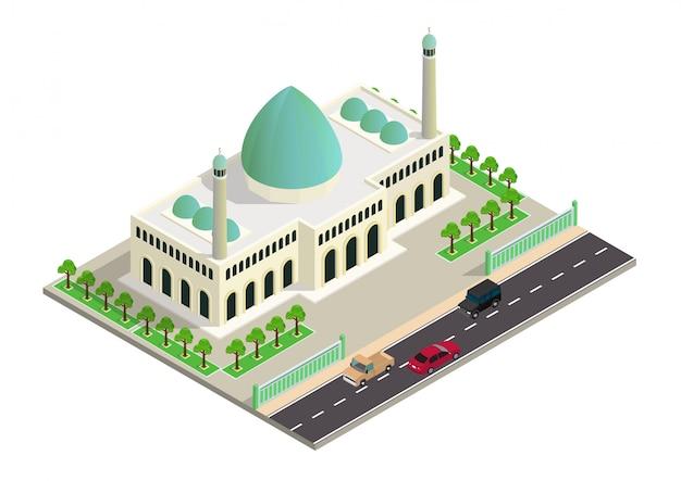 Izometryczny budynek meczetu