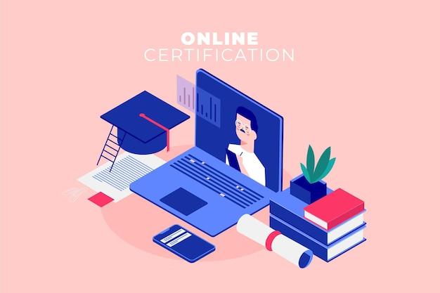 Izometryczny certyfikat online