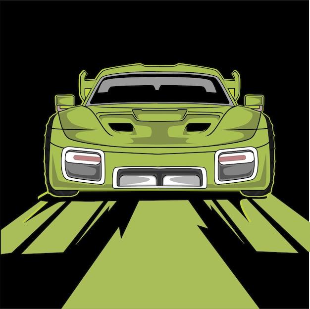 Izometryczny clipart niestandardowy samochód