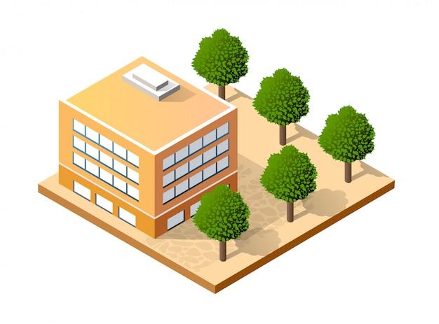Izometryczny dom miejski