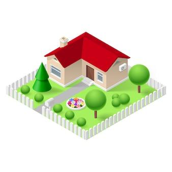Izometryczny dom