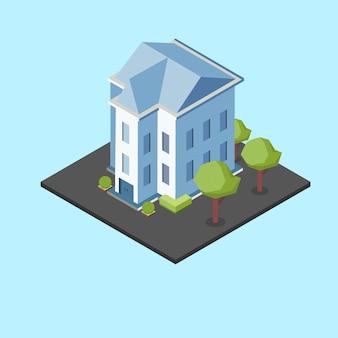 Izometryczny duży dom