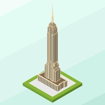 Izometryczny empire state building