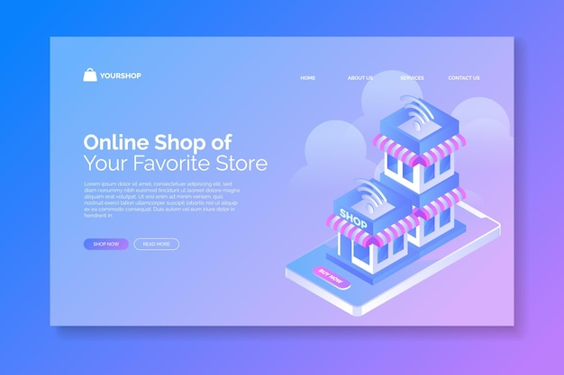 Izometryczny handel elektroniczny - strony docelowe