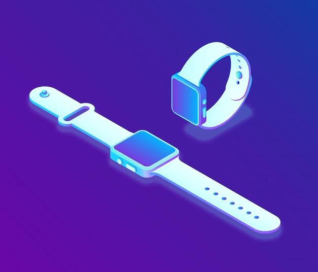 Izometryczny inteligentny zegarek 3d.